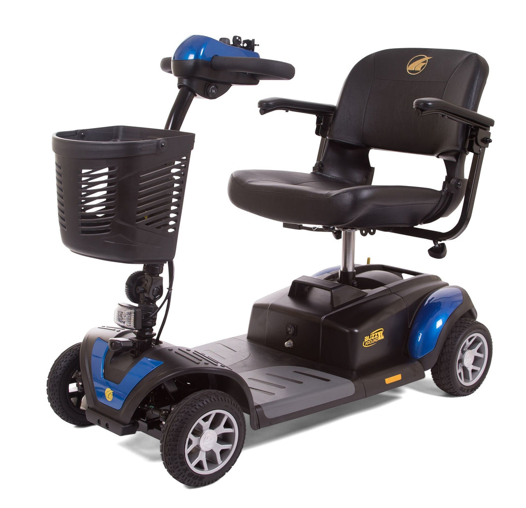 Golden Buzzaround XL Portable 4 Wheel Scooter GB147D, 300 lb Capacity - Reliving Mobility