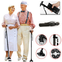 T-Handle Folding Cane With LED Flashlight. - Reliving Mobility