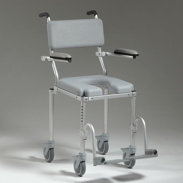 Nuprodx MC4000 Roll in Shower Toilet Commode Chair - Reliving Mobility