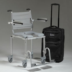 MultiChair 4000Tx Shower Chair With Wheels And Padded Seat by Nuprodx - Reliving Mobility
