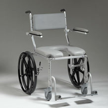 Nuprodx MC4220 Shower Toilet Commode Wheelchair (Large Seat) - Reliving Mobility