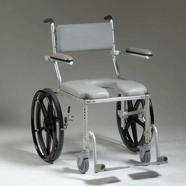 Nuprodx Shower Toilet Commode Wheelchair MC4220 (Large Seat) - Reliving Mobility