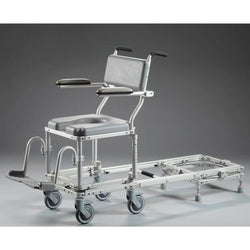 Nuprodx MC6000RS Rolling Toilet Commode Chair & Tub Slider (Narrow) - Reliving Mobility