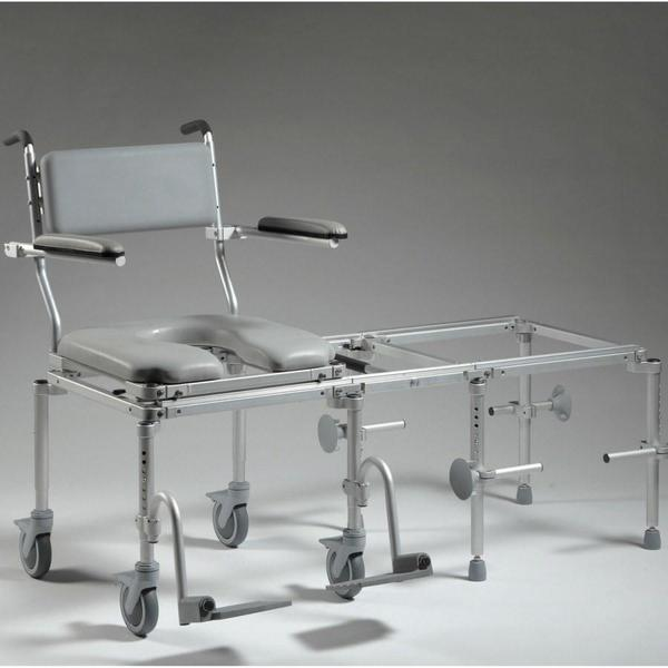 Nuprodx Rolling Toilet Commode Chair & Tub Slider MC6200 (Large) - Reliving Mobility