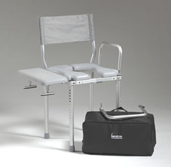 Nuprodx MC3000Tx Travel Shower Toilet Commode Chair - Reliving Mobility