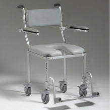 Nuprodx MC4200 Roll in Shower Toilet Commode Chair (Large Seat) - Reliving Mobility