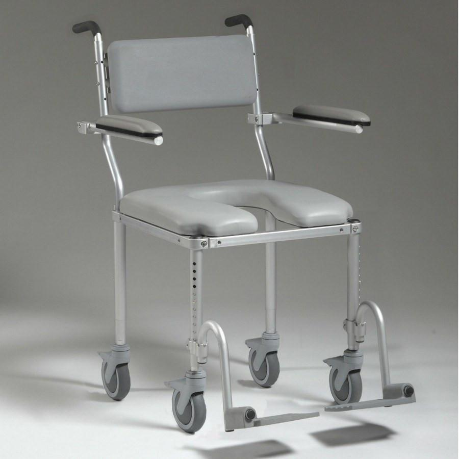 Nuprodx Roll in Shower Toilet Commode Chair MC4200 (Large Seat ...