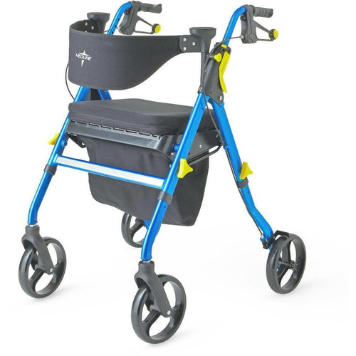 Rollator - Medline Empower 4 Wheels Walker Rollator With Seat