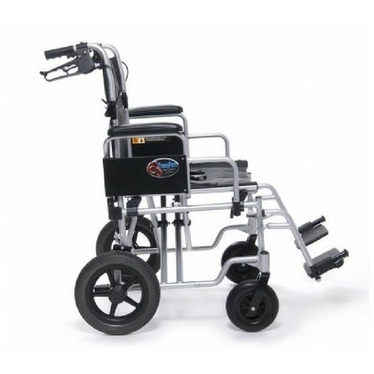 E&J Bariatric Aluminium Transport Chair (EJ777-2) - Reliving Mobility