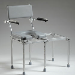 Nuprodx MC5100 Toilet Commode Chair & Tub Slider (Small Bathrooms) - Reliving Mobility
