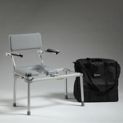 Nuprodx MC5100Tx Travel Toilet Commode Chair & Tub Slider - Reliving Mobility