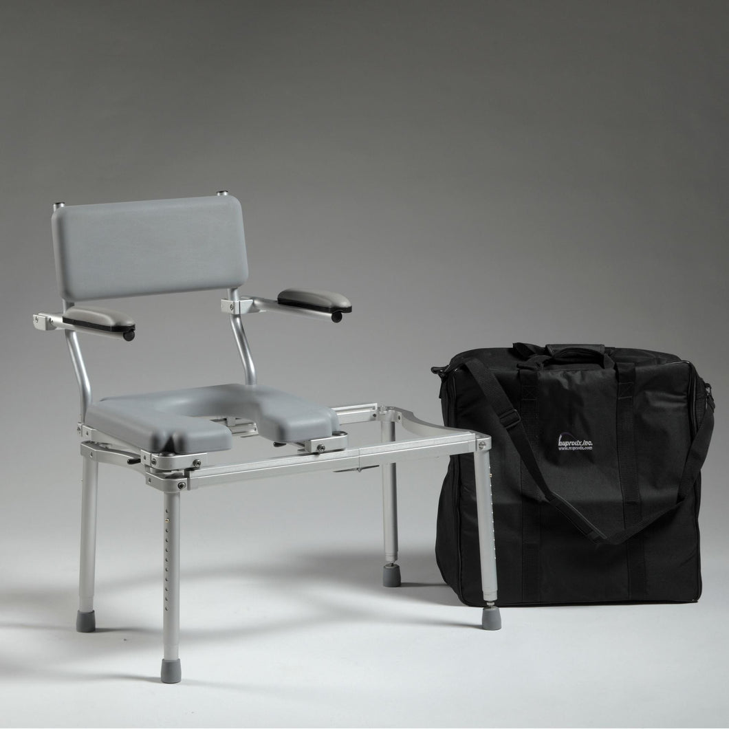 Nuprodx Travel Toilet Commode Chair & Tub Slider MC5100Tx - Reliving Mobility