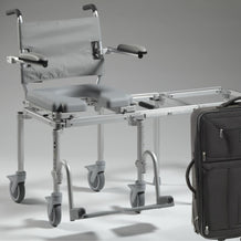 Nuprodx Travel Rolling Toilet Commode Chair & Tub Slider MC6000Tx - Reliving Mobility