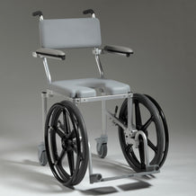 Nuprodx MC4020Rx Shower Toilet Commode Wheelchair (Front Wheels) - Reliving Mobility
