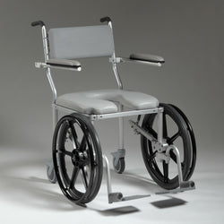 Nuprodx MC4220Rx Shower Toilet Commode Wheelchair (Large Seat) - Reliving Mobility
