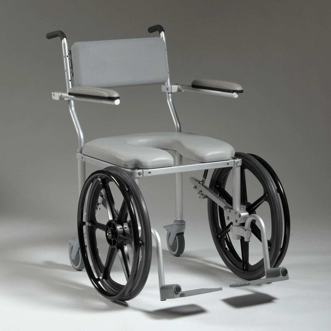 Nuprodx Shower Toilet Commode Wheelchair MC4220Rx (Large Seat) - Reliving Mobility