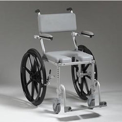 Nuprodx MC4024 Shower Toilet Commode Wheelchair (Large Wheels) - Reliving Mobility