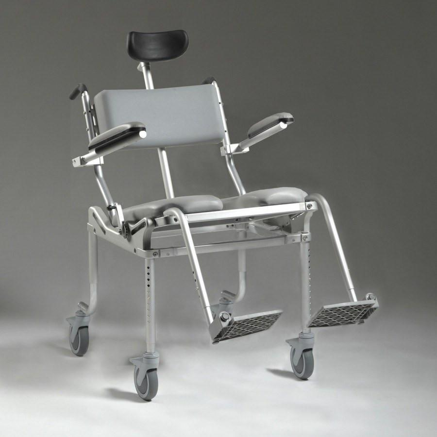 Nuprodx Roll in Shower Toilet Commode Chair MC4200Tilt (Large Seat ...