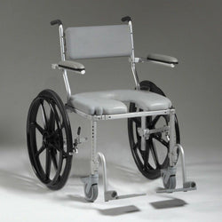 Nuprodx MC4224  Shower Toilet Commode Wheelchair (Large) - Reliving Mobility