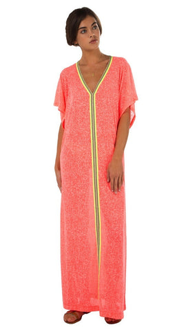 Jelly Aqua Long Kaftan