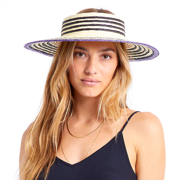 JOANNA VISOR - LIGHT TAN/BLACK