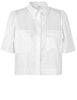 POLLIE WHITE UTILITY SHIRT