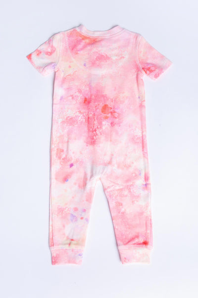 PEACHY PARTY TIE DYE INFANT ROMPER