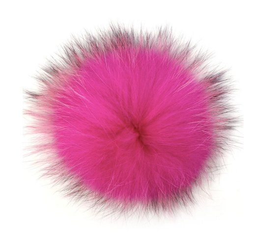 Assorted Fur Beanie Pom Poms