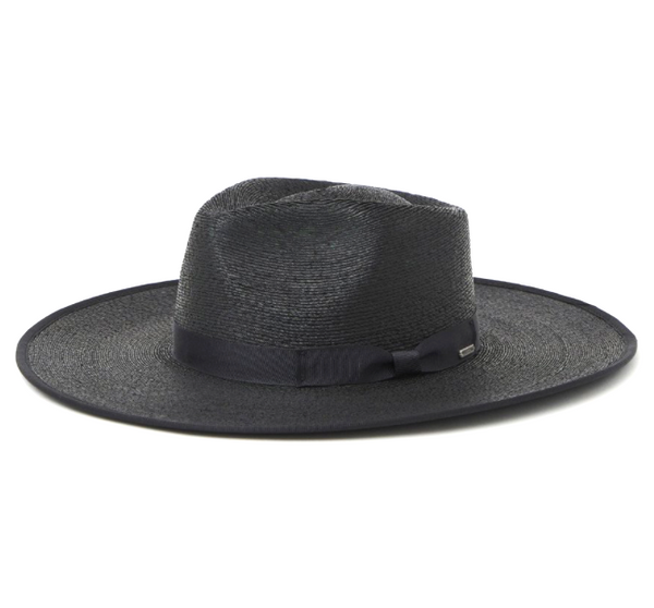 JO STRAW RANCHER HAT - BLACK