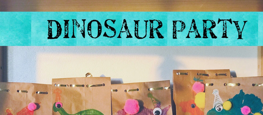 DIY Dinosaur-themed Party Favor Bags