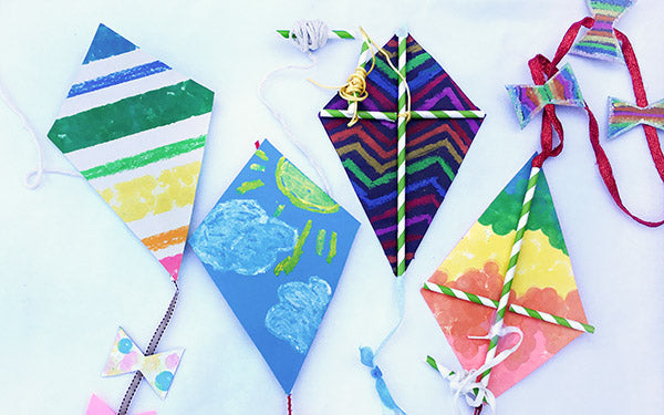 Summertime Paper Kite Craft for Kids