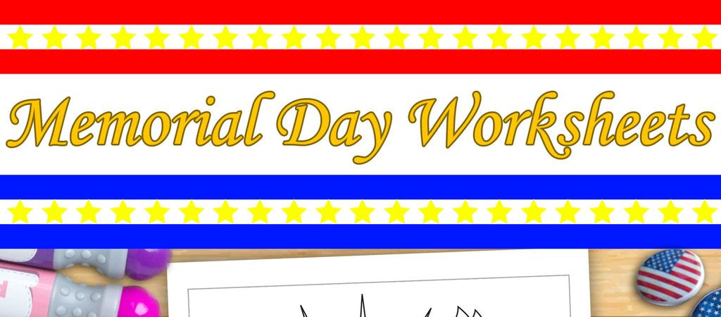 Celebrate Memorial Day with Dab and Dot Worksheet