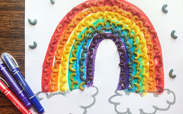 Rain or Shine, This DIY Rainbow Noodle Craft Will Brighten Your Day