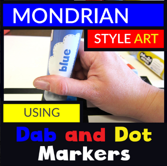 Piet Mondrian Dab and Dot Art Project