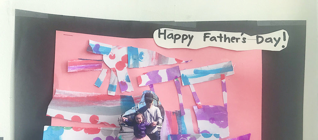 Father's Day Collage Inspired Pop-up Card