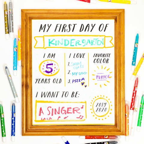 Back to school printable