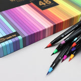 GIFT BOX : 48 Premium Watercolor Brush Pens, Markers for beginner to professional artist