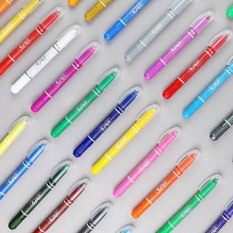 NOYO 12 Colors Crayons - Not Your Ordinary Crayons 3 in 1 Bolder Crayons-Pastel-Watercolor Effects