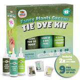 Teal & Green Tie Dye Colors in Fancy Plants Greens Tie Dye Kit (Tye Dye Kit). Custom Clothing Dye with 6 Refills for Multiple Projects, Soda Ash, Ties