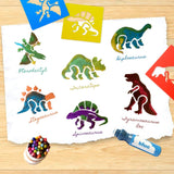 Zoo Animal Stencils + Dab and Dot Marker, Set of 6