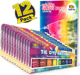 Doodlehog 8 Colors Easy Tie Dye Party Kit for Kids, Adults, and Groups. Beginner-Friendly: Just Add Water! Dye up to 10 Medium Kids T-Shirts!
