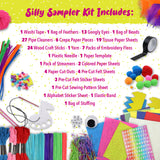 50 Silly Craft Kits, Arts and Crafts for Kids 4-6 - 400 Pieces To Do 50 Sample Size Crafts - FREE 16 Page Instruction Guide With Color Illustrations