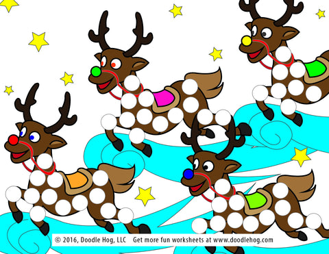 Free Download | Christmas Themed Dot Worksheets – Doodle Hog