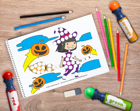 Free Download | Halloween Special Dot Worksheets