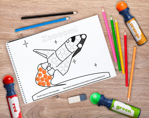 Free Download | Space Rocket Mission Dot Worksheets – Doodle Hog