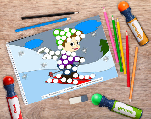 Free Download | Winter Themed Dot Worksheets