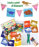 Dinosaur Arts and Crafts Kit Supplies for Kids & Preschooler