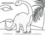 Free Download | Dinosaurs Dot Worksheets