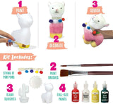 DIY Alpaca Paint Your Own Squishies Kit. Arts and Crafts Gifts for Girls.