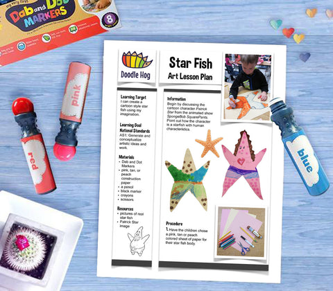 Free Download | Star Fish Art Lesson Plan